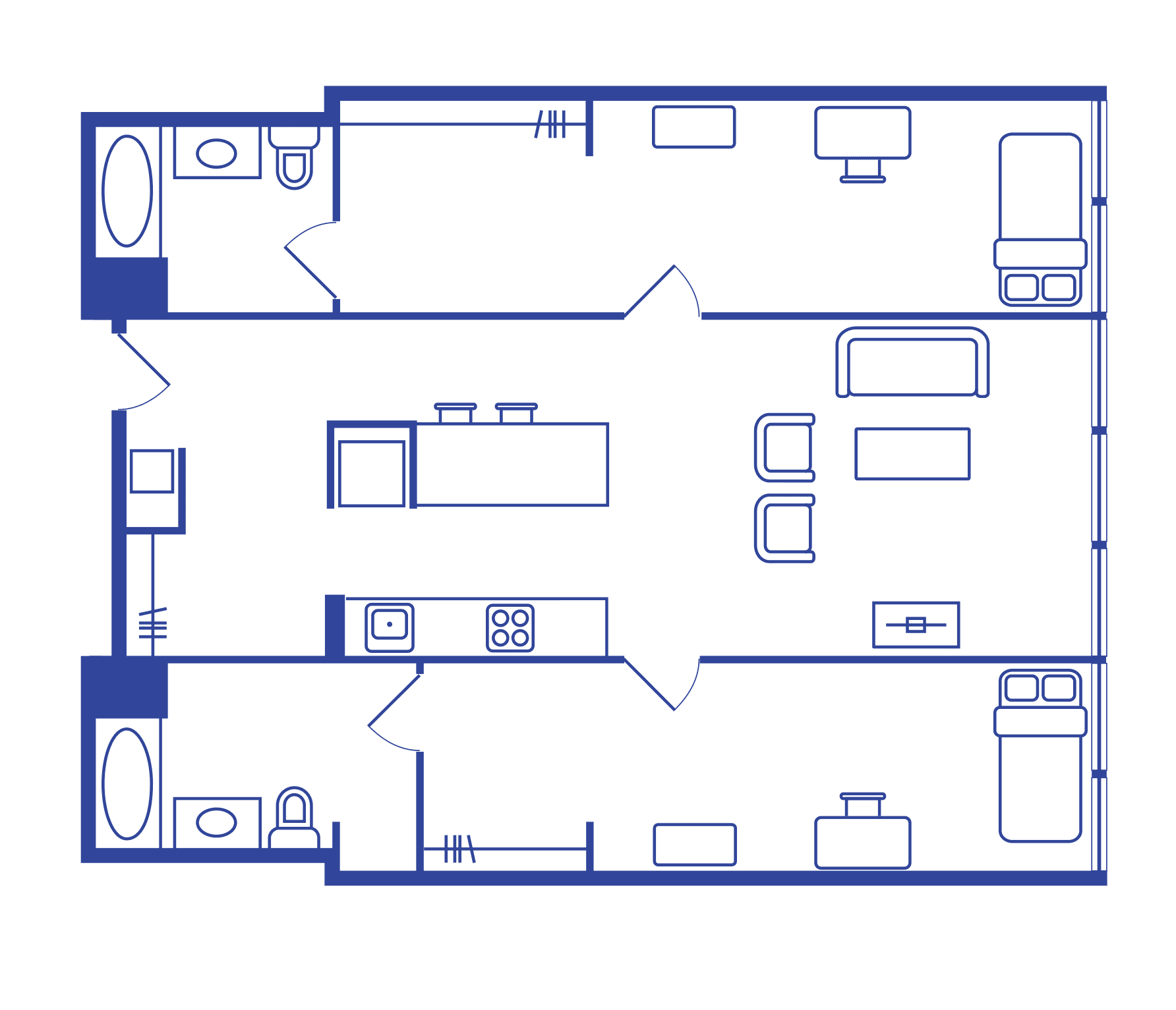 2 Bedroom Floorplan 1