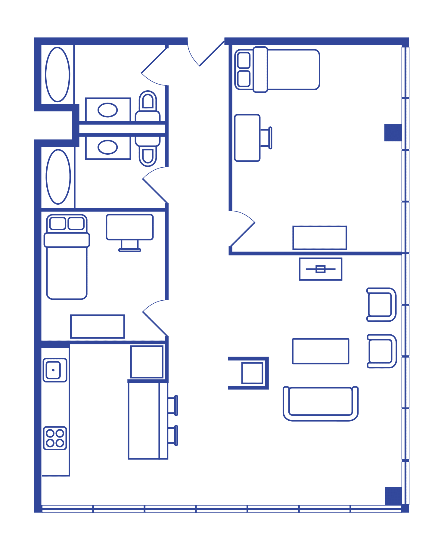 2 Bedroom Floorplan 4