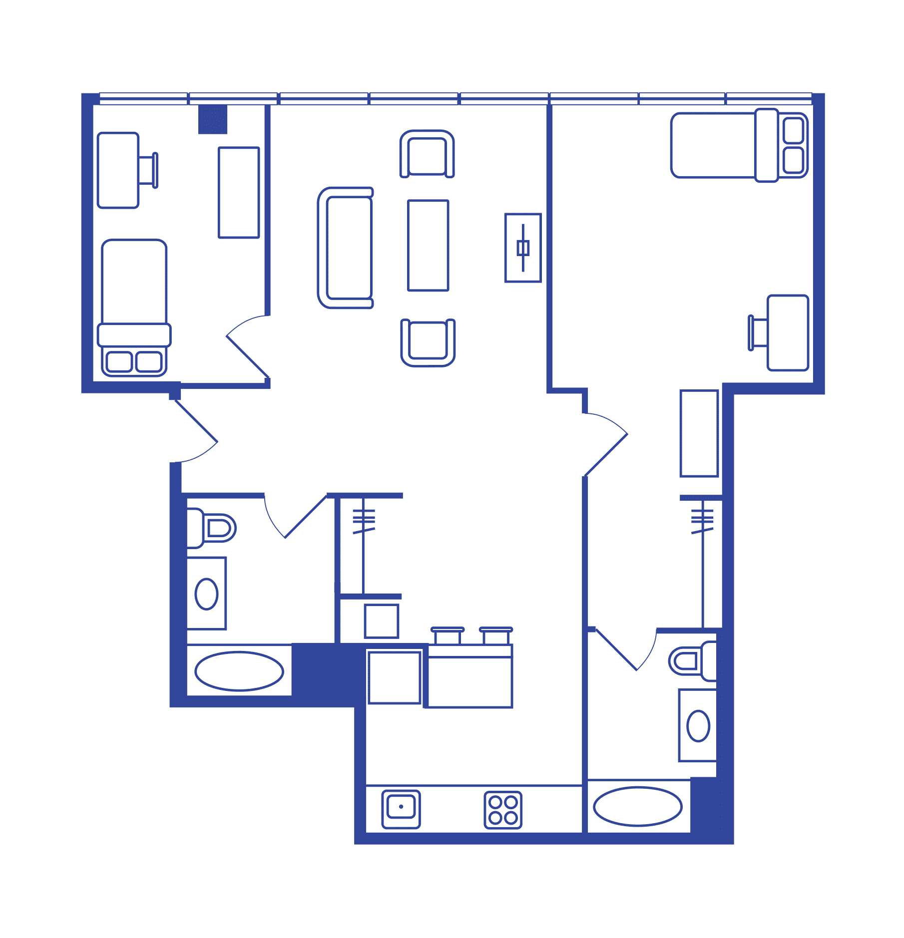 2 Bedroom Floorplan 5
