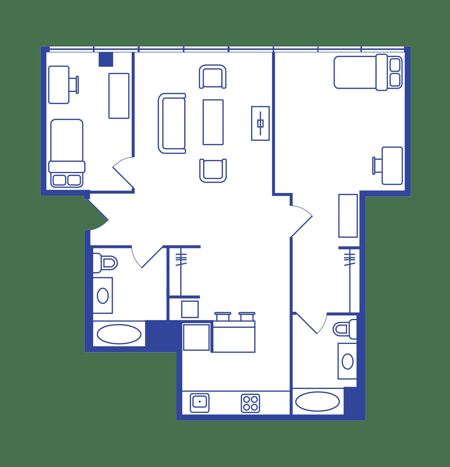 2 Bedroom Floorplan 5