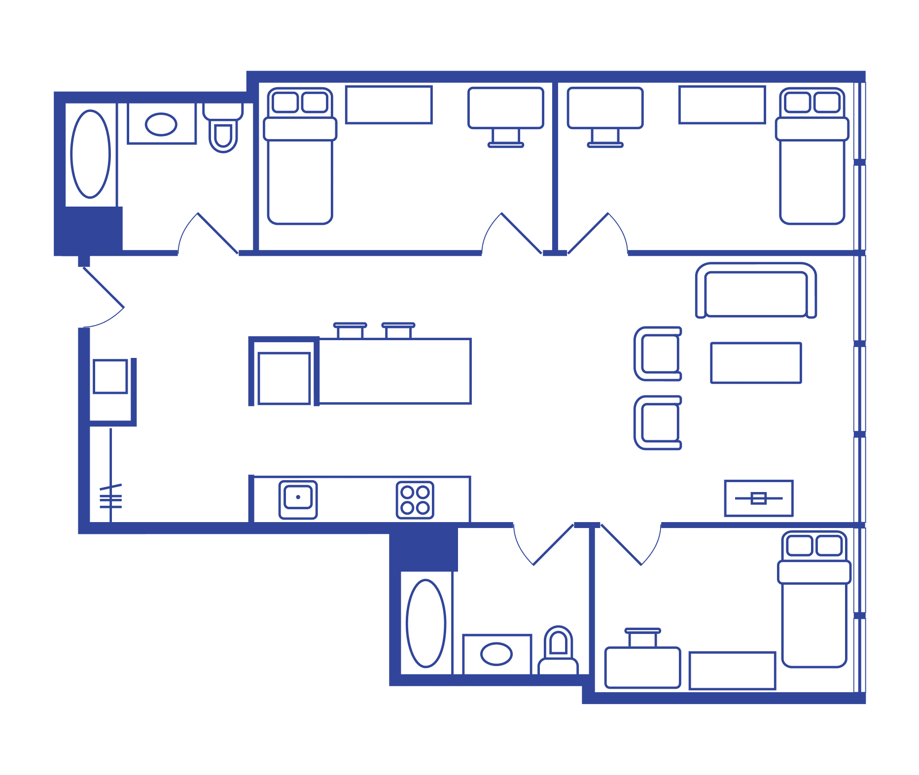 3 Bedroom Floorplan 1