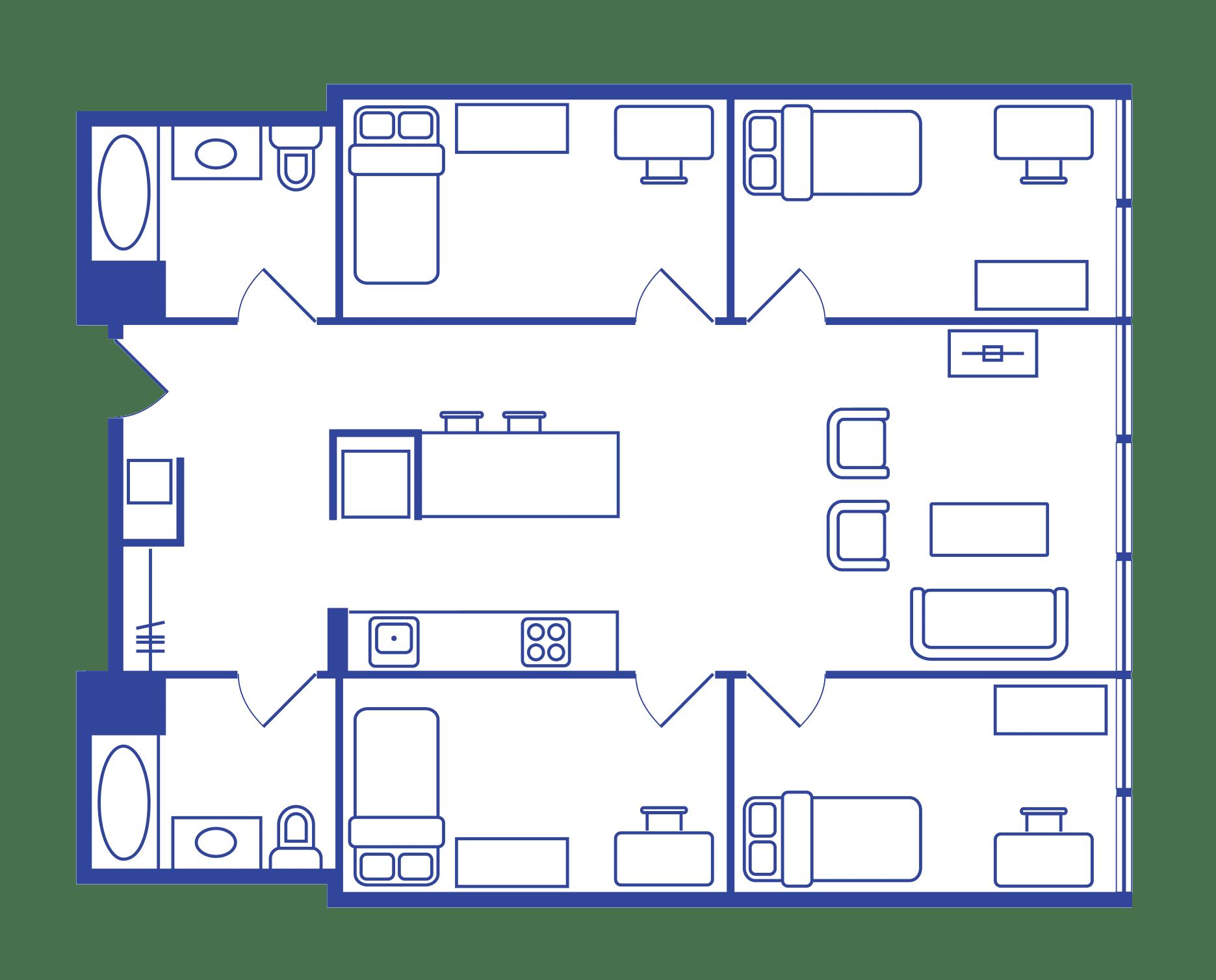 4 Bedroom Floorplan 1